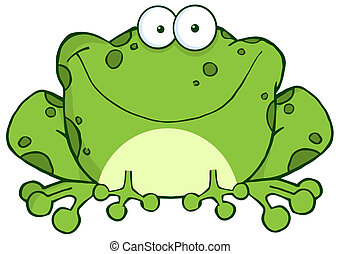 Speckled Green Toad Smiling