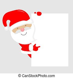 Happy Santa Claus with blank frame