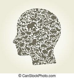 Head an animal