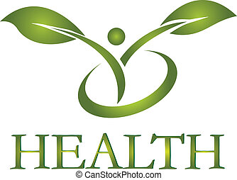 Healthy life with green leafs logo vector