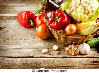 Healthy Organic Vegetables. Bio Food