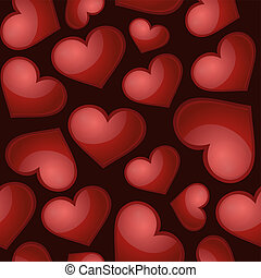 Heart pattern, vector seamless background.