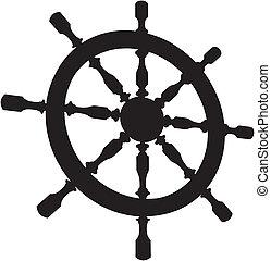 Helm Steering Wheel Vector
