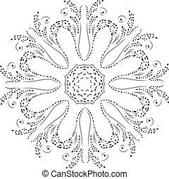 Henna design fashion silhueta circulo