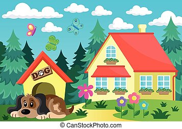 House with dog theme 1