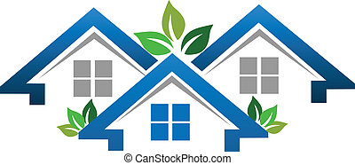 Houses for real estate company logo