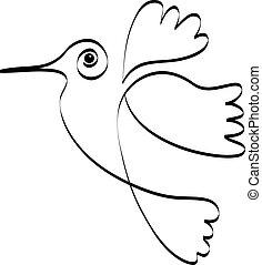 Humming silhouette logo