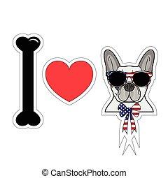 I love french bulldog with american symbols