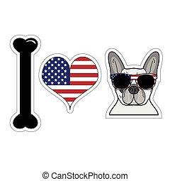 I love french bulldog with symbols 2