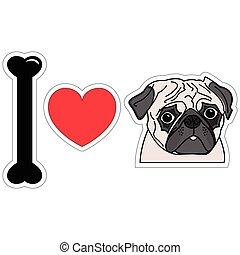 I love pugs icon