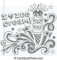 Ice Cream Cone Sketchy Doodles