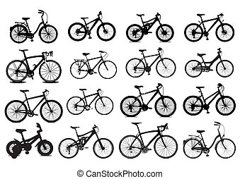 vector icons bicycles