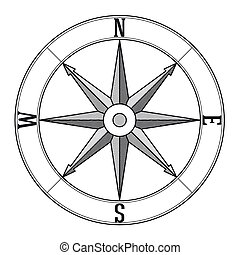 Icon of wind rose