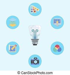 Idea vector icon sign symbol