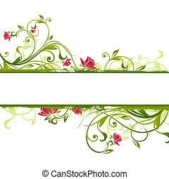 illustration drawing of floral frame