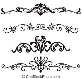 illustration drawing of flower pattern in a white background