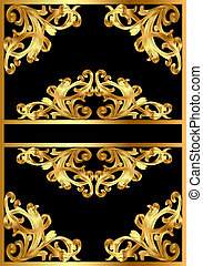 background with gold pattern on black