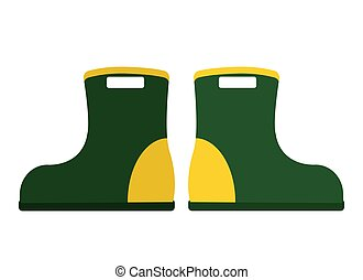 Illustration of a pair of rubber boots. Isolated on white