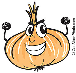 illustration of an onion on a white background