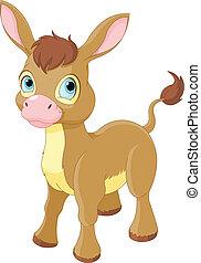 Illustration of Cute Smiling Donkey