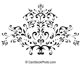 illustration of floral abstract decoration