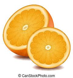 illustration of orange slice on white background