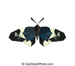 Illustration of origami butterfly isolated on white background