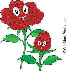 Red Rose Mascot