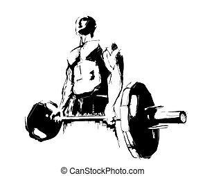illustration of the bodybuilder