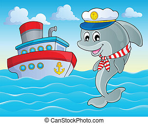Image with dolphin theme 2