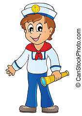 Image with sailor theme 1 - eps10 vector illustration.