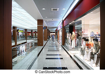 in the store of the fashionable clothing