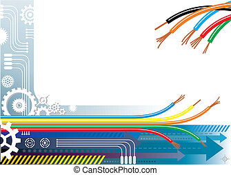 Industry automation background, vector illustration with layers file.