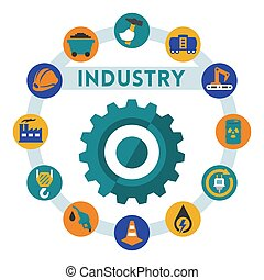 Industry related vector infographic, flat style