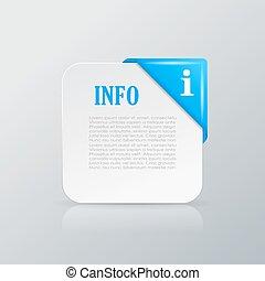 Info card with corner ribbon