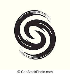 Initial S Zen Refresh Symbol Brush