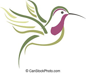 Isolated abstract humming bird