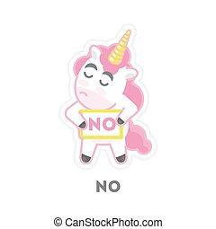 Isolated refusing unicorn.