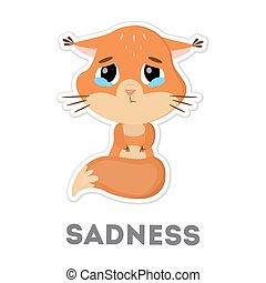 Isolated sad squirrel.