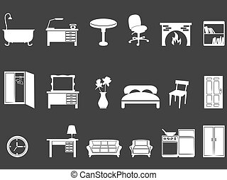 white furniture silhouettes