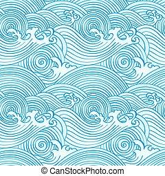Japanese seamless waves