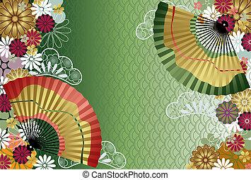 Japanese traditional pattern. Illustration vector.