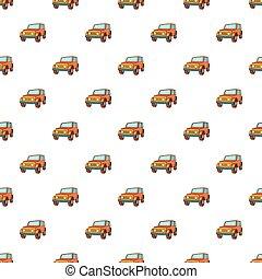 Jeep pattern, cartoon style
