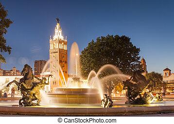 J.C. Nichols Memorial Fountain, by Henri-L?on Gr?ber in Kansas City Missouri