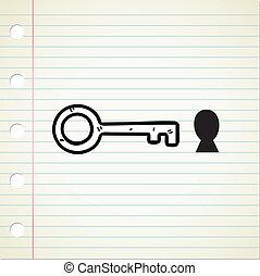 key and hole doodle