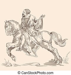 Knight on a horse.