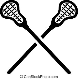 Lacrosse Sticks crossed