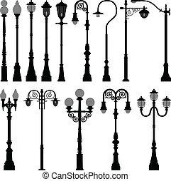 A set of lamp post.