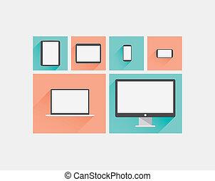 Laptop, tablet, smartphone, comput