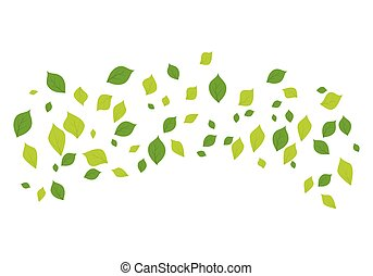 Leaf background icon illustration